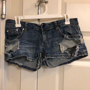 Machine nouvelle mode denim short shorts